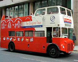 original london sightseeing tour bus